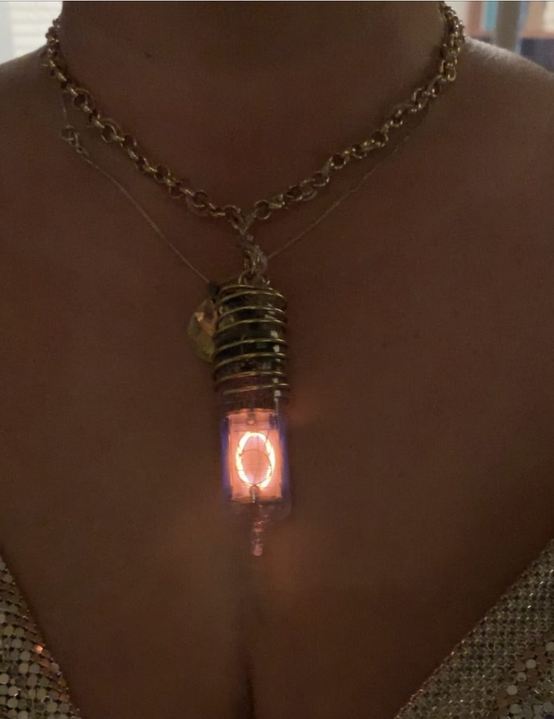ZM1232 nixie tube necklace