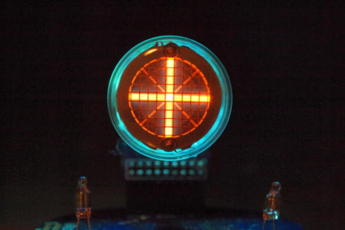 Backlit Rodan CD-14 showing plus sign