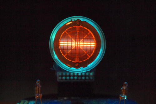 Backlit Rodan CD-14 showing minus sign