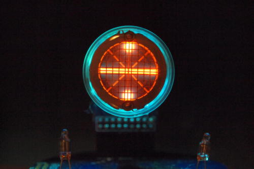Backlit Rodan CD-14 showing divide sign